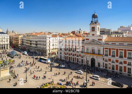 Espagne Madrid, vue aérienne sur la ville à Puerta del Sol