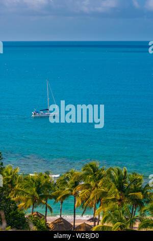 Caraïbes, Antigua, Galley Bay, Galley Bay Beach Banque D'Images