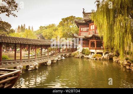 Jardins de YuYuan, Vieille Ville, Shanghai, Chine Banque D'Images