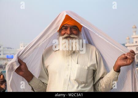 L'Inde, d'Amritsar, Punjab, le Harmandir Sahib, connu comme le Temple d'Or Banque D'Images