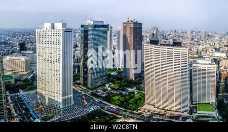 Tokyo, Japon - 10 mai 2019: Beaux Tokyo cityscape, affichage à partir de la plate-forme d'observation de la ville de Tokyo.