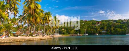 Caraïbes, St Lucia, Marigot Marigot Bay Banque D'Images