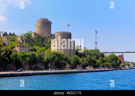 (Rumelian Rumelihisari, Château Roumeli Hissar Château), Bosphore, Istanbul, Turquie Banque D'Images