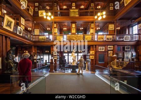 USA, New Jersey, West Orange, Thomas Edison National Historical Park, bibliothèque, de l'intérieur