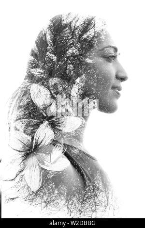 Portrait de la photographie se confond avec l'oeuvre originale Banque D'Images