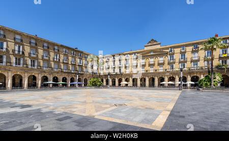 Constitution plaza à Bilbao Banque D'Images