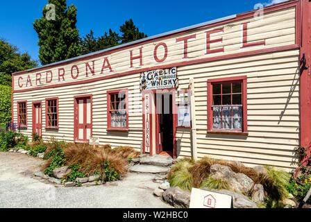 L'emblématique Cardrona Hotel dans le village de Cardrona, (près de Wanaka), Île du Sud, Nouvelle-Zélande Banque D'Images