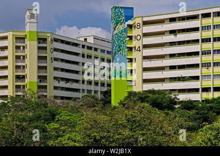 Singapour, Singapour - le 14 novembre 2011: les logements publics hdb bâtiments résidentiels à Singapore, près de la station de MRT khatib Banque D'Images