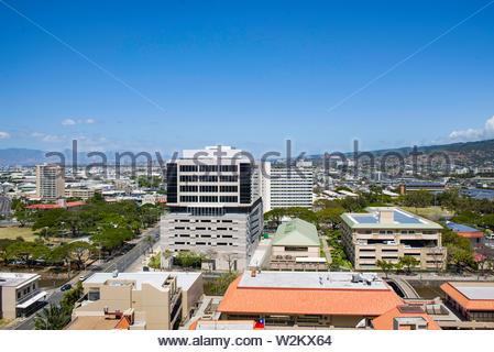 Vue aérienne de Honolulu, Oahu, Hawaii, USA Banque D'Images
