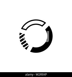 Icône de graphique en secteurs Télévision Vecteur de style pour les applications, les sites Web, l'interface utilisateur. Icône noire illustration vectorielle. Banque D'Images