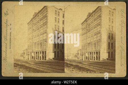 L'édifice de la Cour, St Paul, Minn., par Woodward Co stéréoscopique Banque D'Images