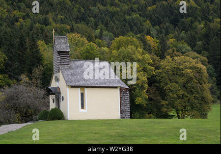 Dans la chapelle de la vallée, spiegelau, brauneck lenggries, benediktenwand, isarwinkel, région de la Haute-Bavière, Alpes bavaroises, la Bavière, la vallée de l'Isar, Allemagne Banque D'Images
