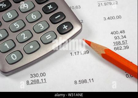 Calcul financier avec tableau des stock market