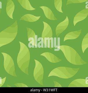 La texture du feuillage des arbres - Vecteur Modèle transparent avec plateau bush Banque D'Images