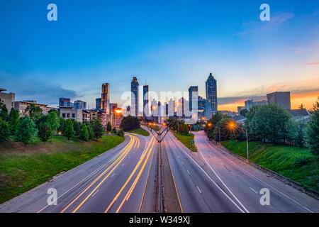 Atlanta, Georgia, USA Centre-ville paysage urbain. Banque D'Images