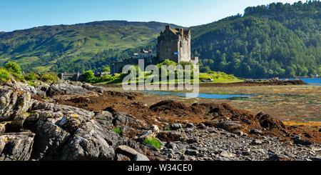 Le Château d'Eilean Donan au Loch Duich, West Highlands, Ecosse, Royaume-Uni