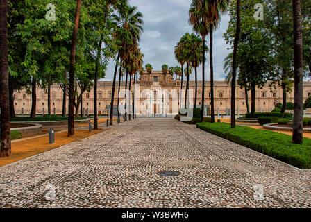Ancien Hôpital de cinq blessures - Parlement andalou de Séville, Espagne Banque D'Images