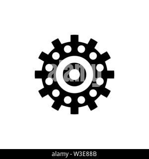 Mécanisme de roulement à billes, de l'industrie. Icône vecteur illustration. Télévision Simple symbole noir sur fond blanc. Roulement à billes, mécanisme de connexion industrielle Banque D'Images