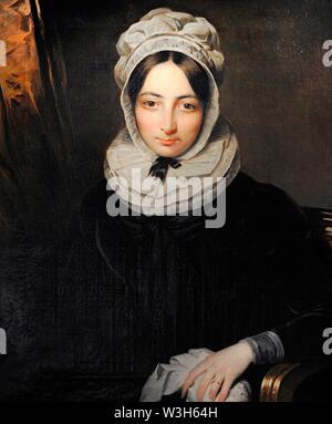 María Teresa del Riego y Bustillos (1800-1824). Viuda del General Riego. Retrato por Benjamin de la Cour, hacia 1824. Museo del Romanticismo. Madrid. España.