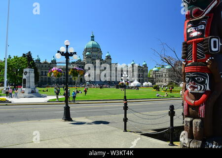 Édifices du Parlement à Victoria (C.-B.),Canada.