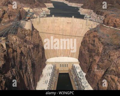 Capture d'après-midi le barrage Hoover, près de Las Vegas, Nevada