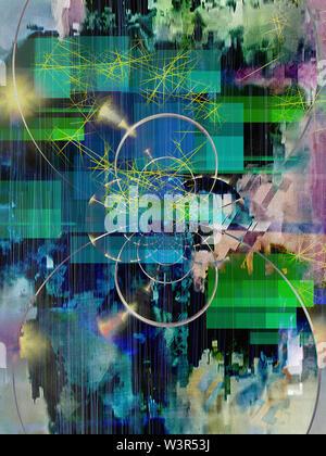 Résumé numérique. L'art moderne créative Banque D'Images