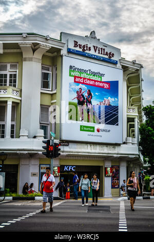 Singapour - Jun 26, 2018: Village Bugis est l'une des scènes populaires de Singapour. Stratégiquement situé dans le quartier de Bugis MRT Bugis Junction et Shopp Banque D'Images