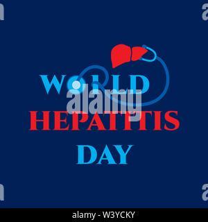 L'affiche de sensibilisation de la Journée mondiale de l'hépatite, design vector illustration Banque D'Images