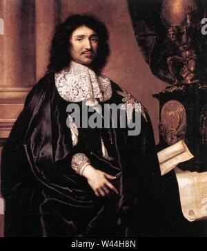 Claude Lefebvre - Portrait de Jean-Baptiste Colbert - Banque D'Images