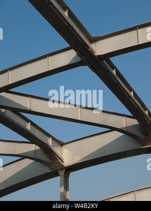 Toit du pont de la rivière Han à Séoul, Corée. Banque D'Images