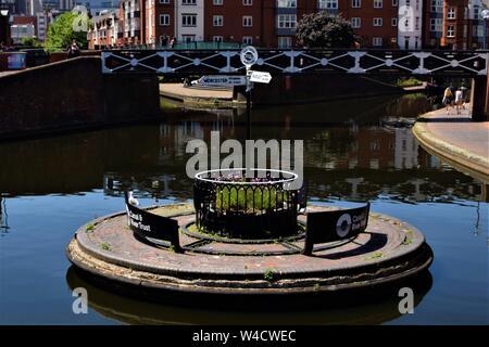 Voir les canaux de Birmingham Banque D'Images