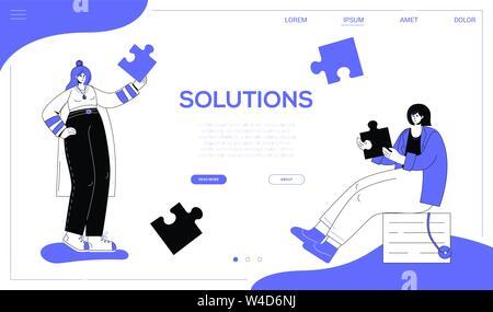 Solutions - télévision couleur bannière web style design Banque D'Images