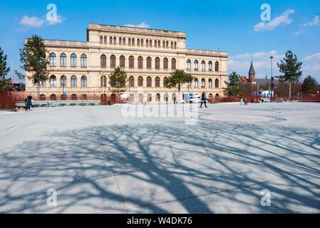 Le bâtiment de la bourse de Konigsberg, Musée d'art de Kaliningrad, Exchange Square, Leninsky Avenue, 83, Kaliningrad, Russie, le 6 avril 2019 Banque D'Images