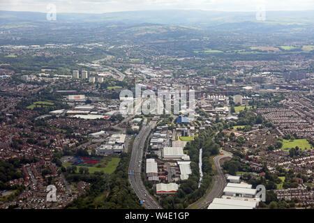 Vue aérienne de Stockport, Greater Manchester, UK Banque D'Images