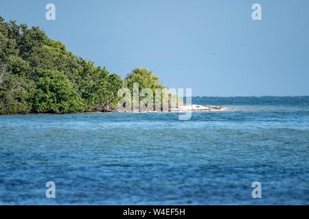 Vue sur une île côtière en Floride Banque D'Images