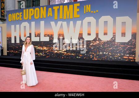 """Los Angeles, USA. 22 juillet, 2019. Margot Robbie à la première de 'Il était une fois à Hollywood"""" au théâtre chinois de Grauman. Crédit: Paul Smith/Alamy Live News"""