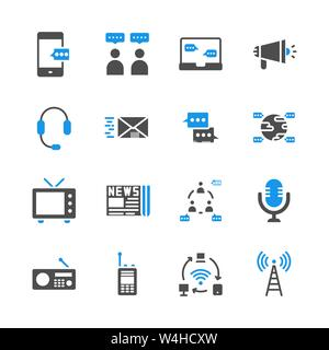 Dispositif de communication dans glyph icon set.Vector illustration Banque D'Images