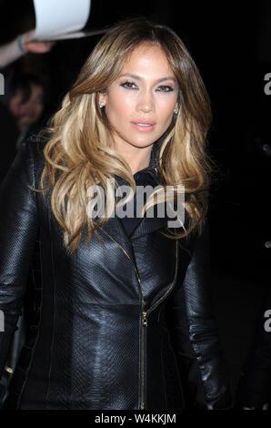 NEW YORK, NY - 22 janvier: la chanteuse Jennifer Lopez comme vu le 22 janvier 2013 à New York. People: Jennifer Lopez Transmission Ref: MNC1 Banque D'Images