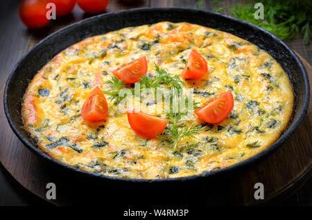 Poêle à omelette, Banque D'Images