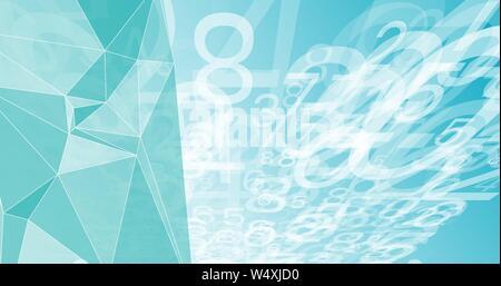 Chaos numérique La technologie de visualisation de données abstrait grand Banque D'Images