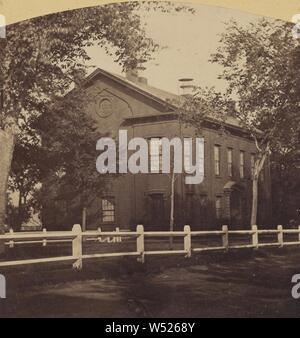Court-House et centre commercial. Vu de High street, près de Park Street. Newburyport, Massachusetts, Philip Coombs (États-Unis, actif 1860), 1861, à l'albumine argentique Banque D'Images