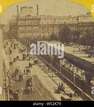 Paris instantanne. Palais et jardin des Tuilleries. La rue de Rivoli., pas de bouilloire, Français, vers 1865, à l'albumine argentique