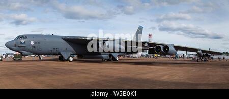 USAF Global Strike Command B-52H capturés à la 2019 Royal International Air Tattoo à Fairford de la RAF.