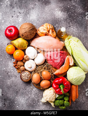 Les produits sains pour l'alimentation paleo