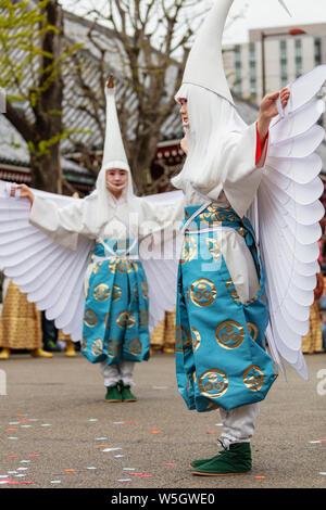 Hakucho Héron blanc (White Swan) festival, Temple Sensoji, Asakusa, Tokyo, Japon, Asie Banque D'Images