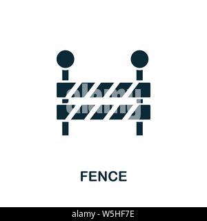 Symbole d'icône de vecteur de clôture. Panneau créatif de la collection d'icônes d'outils de construction. Icône de clôture plate remplie pour ordinateur et mobile Banque D'Images