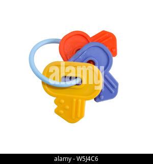 clés en plastique isolées Banque D'Images