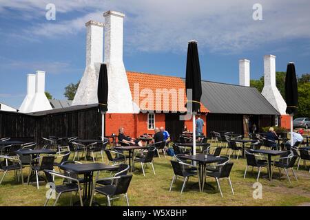 Hasle Rogeri smokehouse et restaurant de fruits de mer, Hasle, île de Bornholm, mer Baltique, Danemark, Europe Banque D'Images