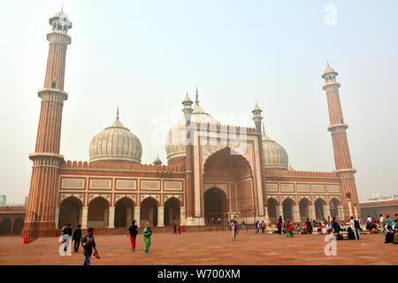 La mosquée Jama Masjid, Delhi, Inde, Asie Banque D'Images