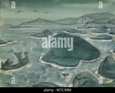Kriemhild géante, 1915. Artiste: Roerich, Nicholas (1874-1947) Banque D'Images